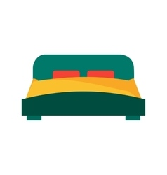 Single bed vector