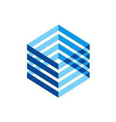 Cube line abstract technology logo vector