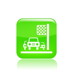 Race car icon vector