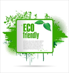 Eco friendly grunge banner vector
