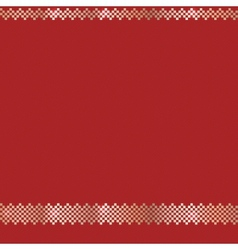 Red ornate christmas pattern vector