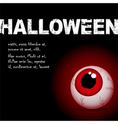 Halloween eyeball vector