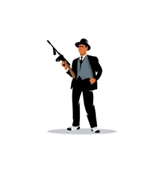 Gangster with a gun vector