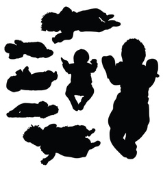 Baby silhouette vector