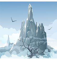 The mountains vector