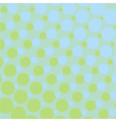 Background with green and blue dots vector