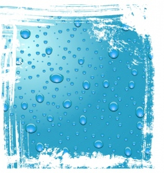 Drops of dew grunge background vector