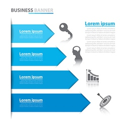 Business arrow banner infographics vector