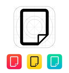 Notepad page flip icon vector