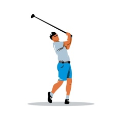 Golfer sign vector