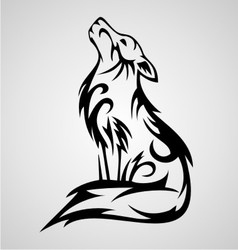 Wolf tribal vector