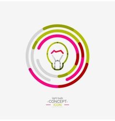 Light bulb minimal design logo vector