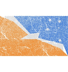 Flag of with old texture vector