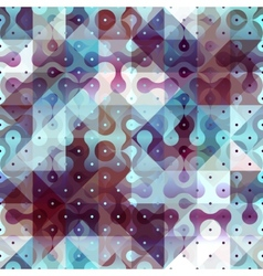 Abstract geometric pattern with droplet elements vector