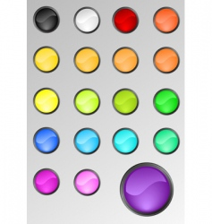 Round buttons set vector