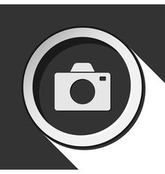 Grey button with camera vector