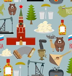 Russia sightseeing seamless pattern the moscow vector