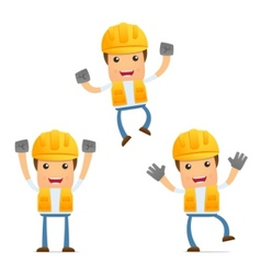 Cartoon construction worker vector