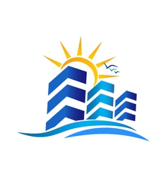 Apartments real estate logo vector