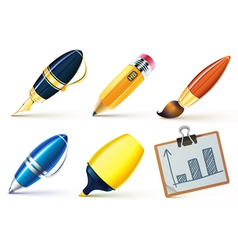 Writing tools vector