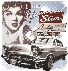 America glamorous 1957 vector