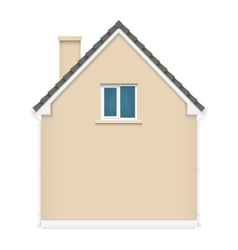Architecture background with detailed house vector