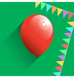 Birthday air balloon icon vector