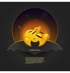 Banner bat in orange vector