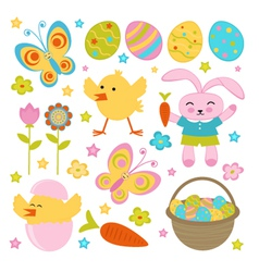 Easter set vector