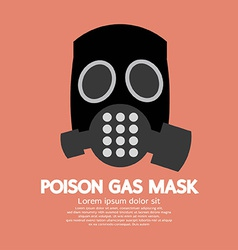 Flat design poison gas mask vector