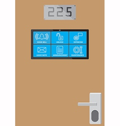 Smart door screen vector