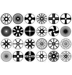Beautiful car wheels vector