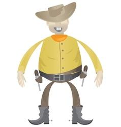 Cowboy with guns vector