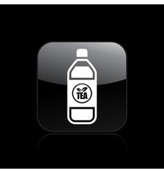 Tea bottle icon vector