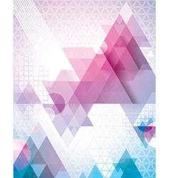 Techno triangles magenta vector