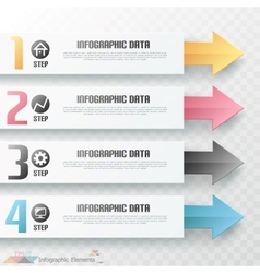 Modern infographics options banner with arrows vector