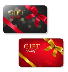 Gift cards big set vector