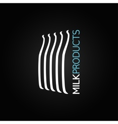 Milk bottle glass design background vector
