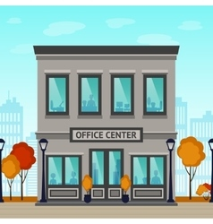 Office center building vector