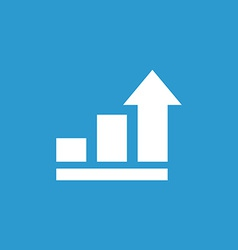 Business diagram chart icon white on the blue vector