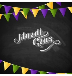 Mardi gras on the blackboard texture vector