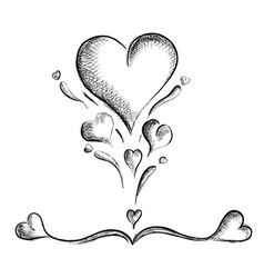 Hearts isolated on the white vector