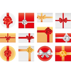 Gifts top view vector