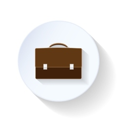 Briefcase flat icons vector