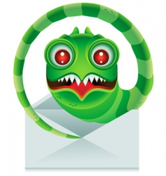 Email worm vector