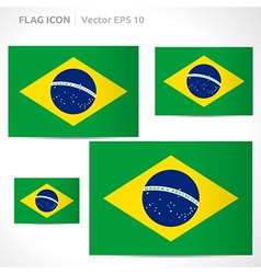 Brazil flag template vector