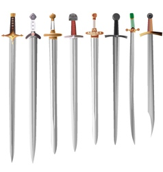 Set of swords vector