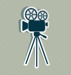 Movie camera icon vector