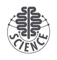 Logo in the form of a brain chip vector