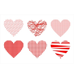 Abstract background with love hearts vector